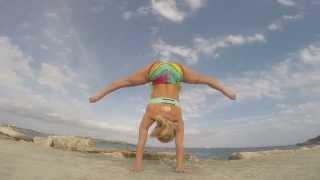Handstand Straddle Yoga Demo in Mallorca