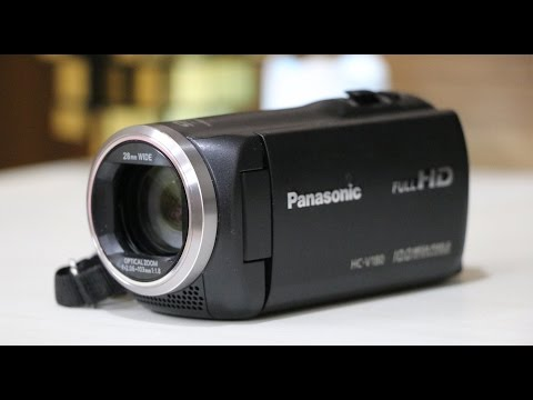 Panasonic HC-V180 Full HD Camcorder/Handy Video camera UNBOXING