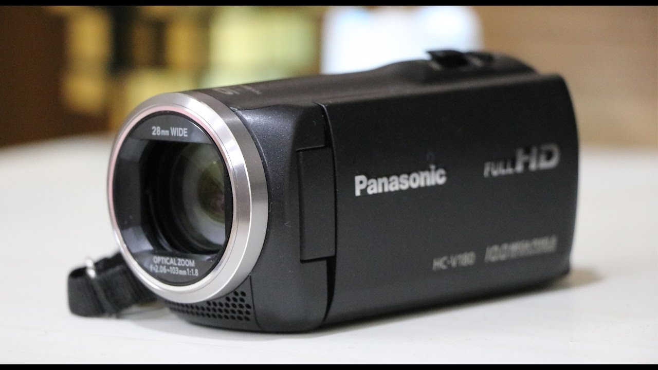 panasonic hc v180 full hd camcorder handy video camera unboxing youtube. Black Bedroom Furniture Sets. Home Design Ideas