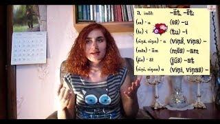 Урок 22. Латышский для начинающих. 1 спр. глаголов (наст.вр)
