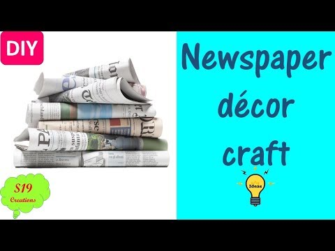 Newspaper craft ideas | best out of waste ideas | diy home decor | easy craft idea | s19 creations