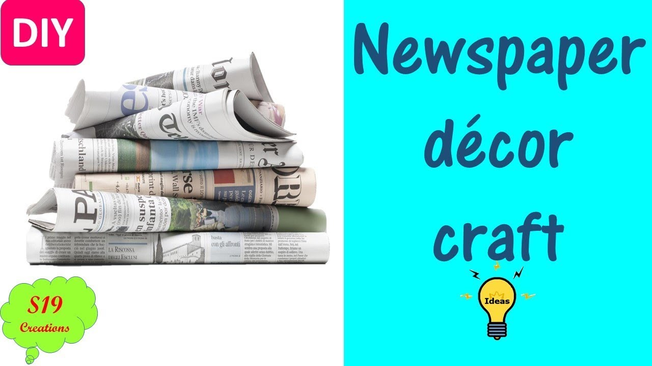 Newspaper Craft Ideas Best Out Of Waste Ideas Diy Home Decor