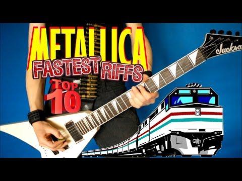 Top 10 Fastest Metallica Riffs (Downpicking)
