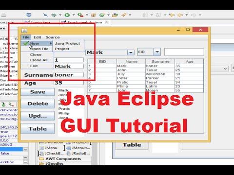 Java Eclipse GUI Tutorial 21 # How To Use JMenuBar, JMenu, JMenuItem , JComboBox ,JRadioButton