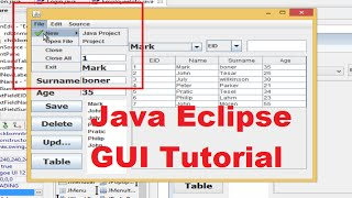 Java Eclipse Gui Tutorial 21 # How To Use Jmenubar, Jmenu, Jmenuitem , Jcombobox ,jradiobutton