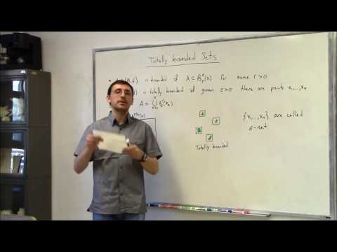 Topics In Analysis (Lecture 7): Totally Bounded Sets