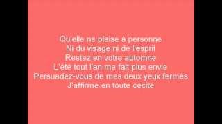 Daniel Bélanger - Les Deux Printemps (Lyrics)