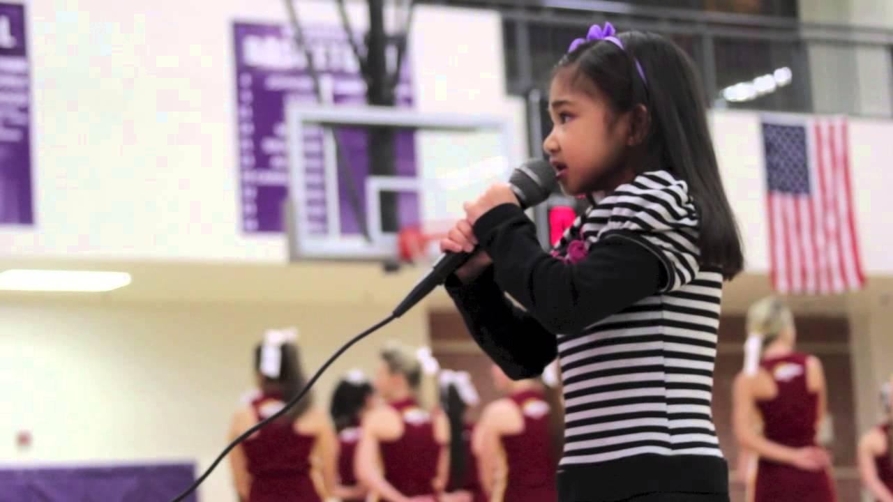 6 Yr Old Singing Star Spangled Banner Duluth High School ...