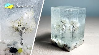 How to make Dried Flowers and Resin Paperweight / Resin ART 🌼