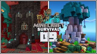PIGLIN BARTERING FARM & MUSHROOM DOG HOUSE!!! - Minecraft 1.16 Survival Let's Play