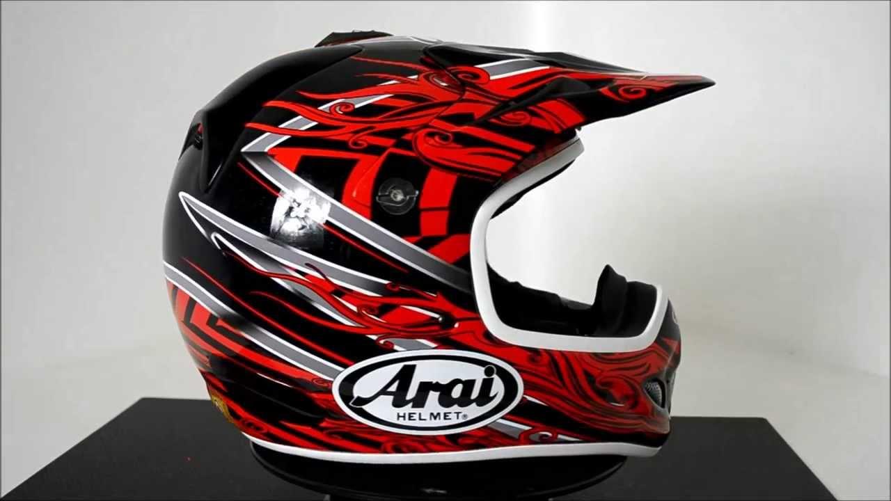 Arai Vx3 Motocross Helmet Brisk Red 360 176 Video Youtube