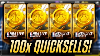 NBA LIVE MOBILE | 100x QUICKSELL PACKS OPENING!