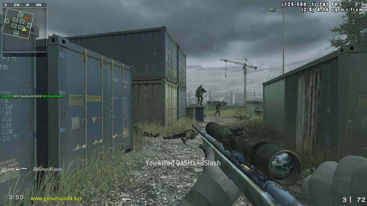 Messing around in a Cod4 promod sniping server