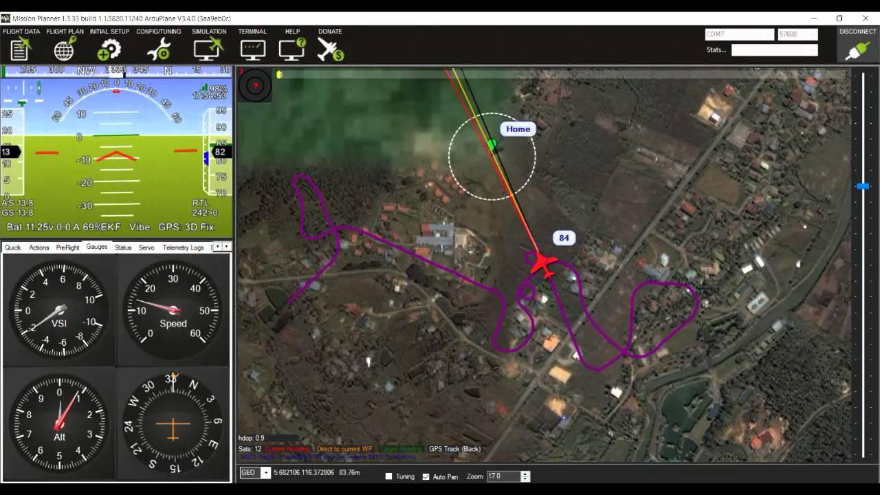 Pixhawk Mission Planner test