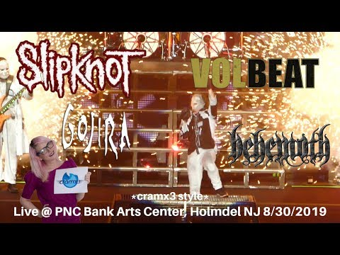Slipknot Volbeat Gojira Behemoth LIVE KNOTFEST PNC Bank Arts