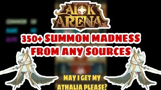 AFK Arena - 350+ Summon Madness From Any Sources! Need Athalia So Much! Watch The Full Video