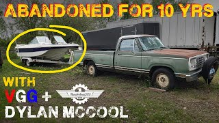 Will an ABANDONED Truck AND Boat Run After 12 Years!? - Part 2