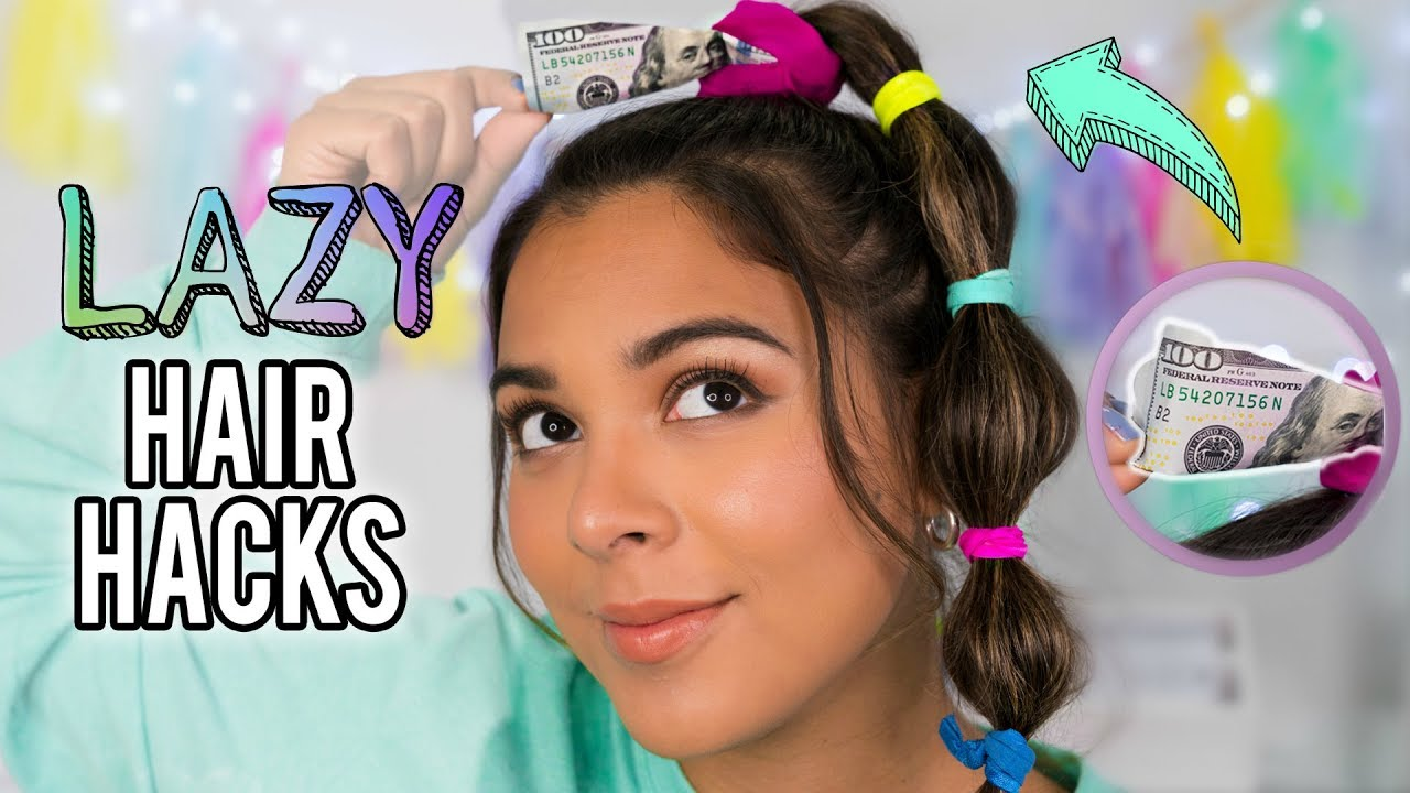 DIY Hair Hacks Every LAZY PERSON Should Know! Quick & Easy Hairstyles for School! - YouTube