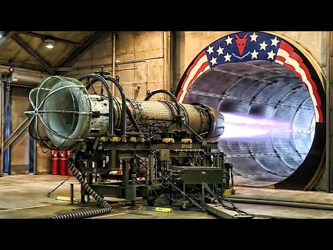 F-16 Jet Engine Test At Full Afterburner In The Hush House