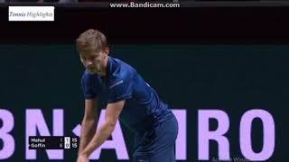 David Goffin vs Nicolas Mahut ROTTERDAM R1 Highlights