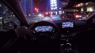 2019 Audi A4 60 FPS Night Driving POV drive test drive acceleration