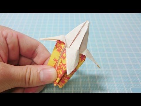 how to make origami banana