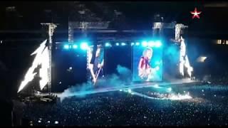 Metallica поет «Группу крови» в «Лужниках»
