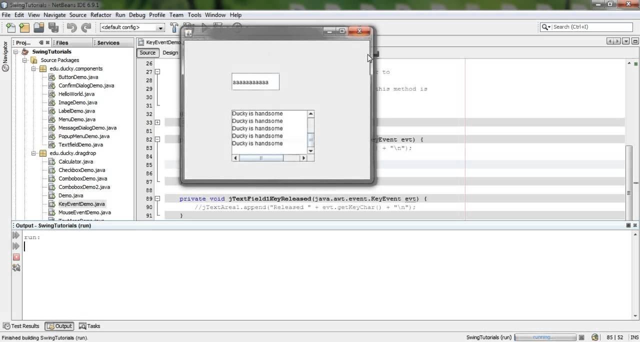 Java swing 30 key event youtube java swing 30 key event baditri Image collections