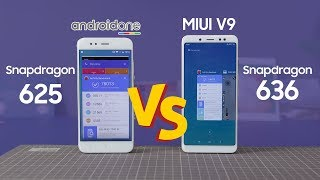 Android One + Snapdragon 625 vs MIUI 9 + Snapdragon 636!!!