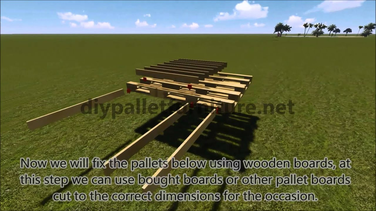 Step By Step Instructions Of How To Make A Hanging Bed With Pallets    YouTube