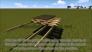 Step By Step Instructions Of How To Make A Hanging Bed With Pallets