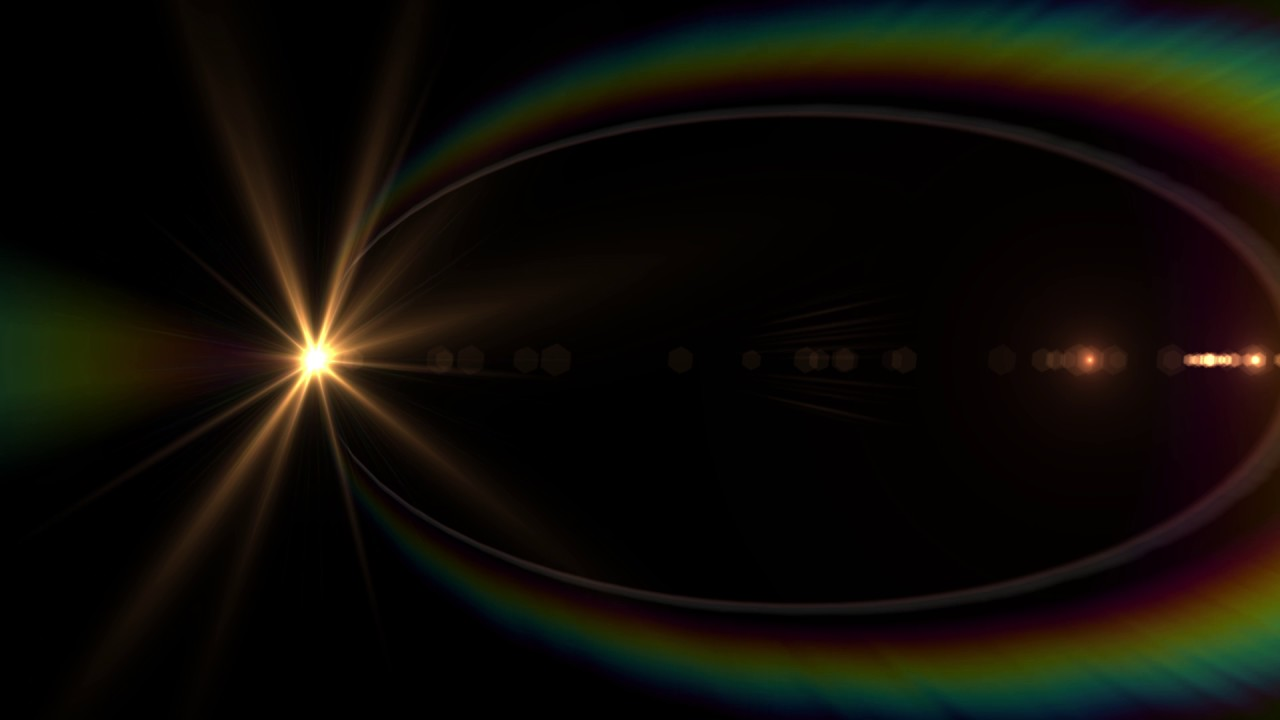 Lens Flares Collection Black Screen Royalty Free Footage