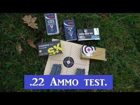 .22lr Ammunition test. CCI, RWS and SK