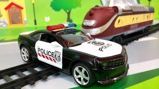 Мультфильмы про машинки. Полицейская машинка в Мультике – Езда на поезде. ЛЕГО мультики для детей