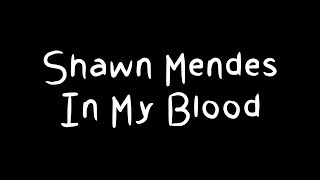 Shawn Mendes - In My Blood Lyrics