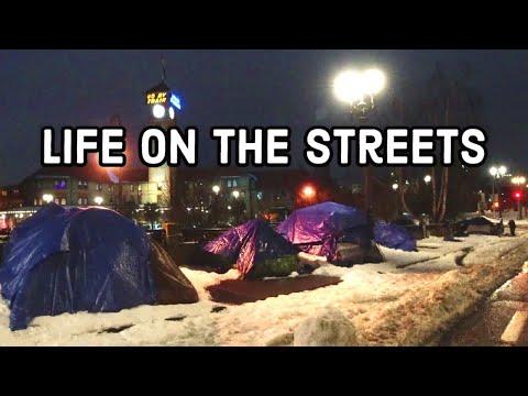 The Skid Row of Portland, Oregon | Crazy Winter Scene