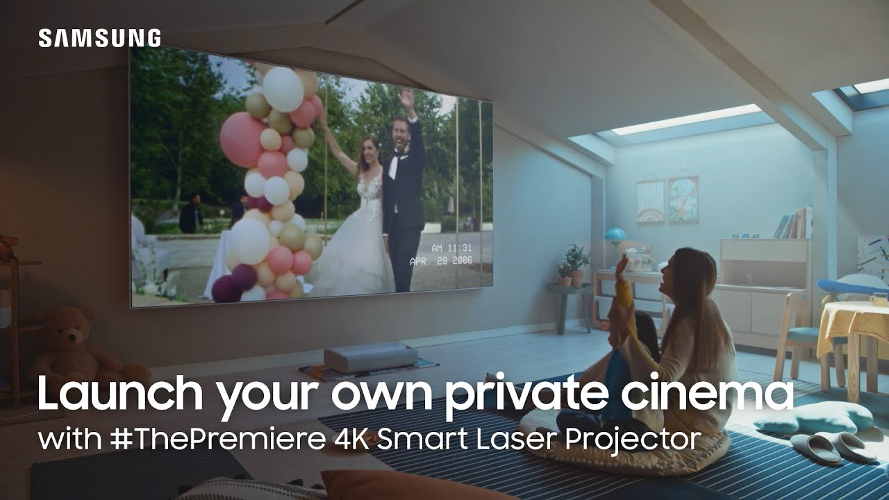 Launch your own private cinema with #ThePremiere 4K Smart Laser Projector | Samsung
