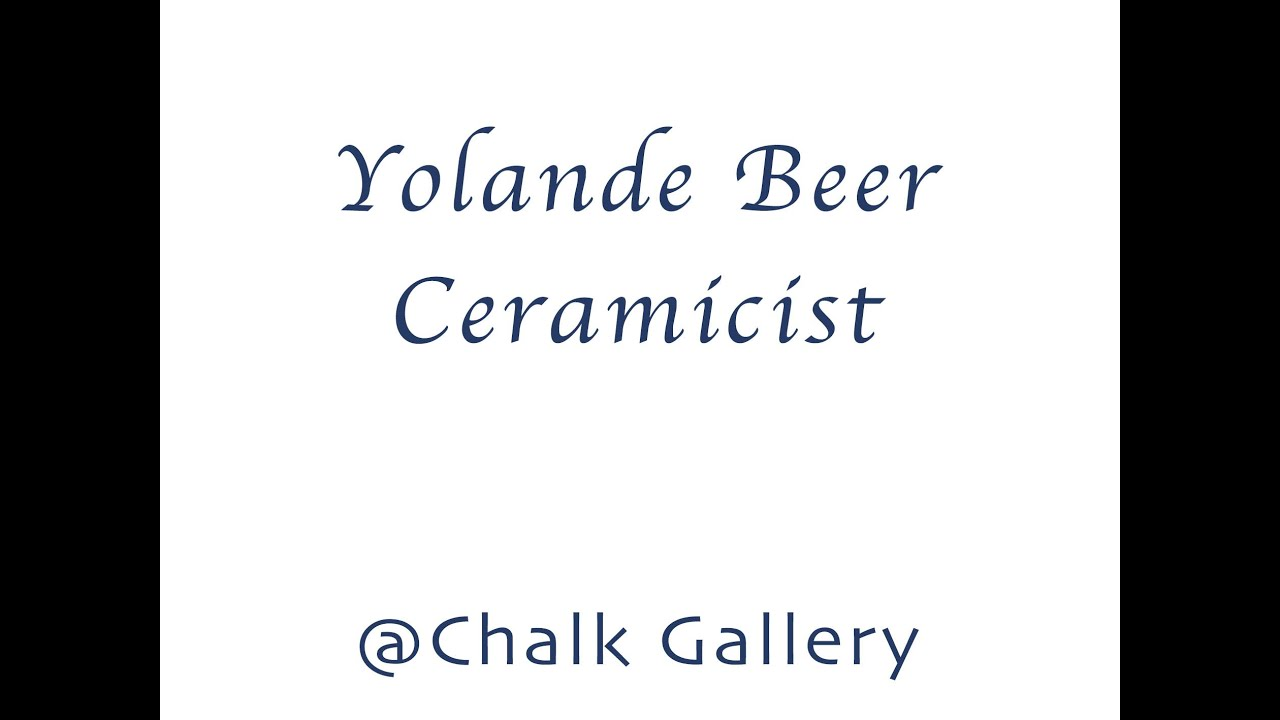 Zoom Interview with Ceramicist Yolande Beer