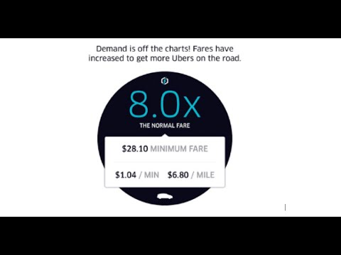 Uber - Oklahoma City Surge Time Lapse - WOW!!!!