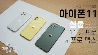 아이폰11 선택 고민 해결! 실물 직접 보고 전하는 아이폰 11 vs 프로 vs 프로 맥스! (iPhone 11 vs Pro vs Pro Max) [4K]