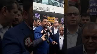 AK PARTİ KARTAL İLÇE TEŞKİLATINDAN SİYAH ÇELENKLİ PROTESTO