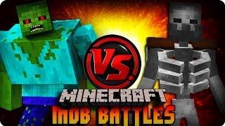 MUTANT ZOMBIE VS MUTANT SKELETON - Minecraft Mob Battle (MUTANT CREATURES MOD)