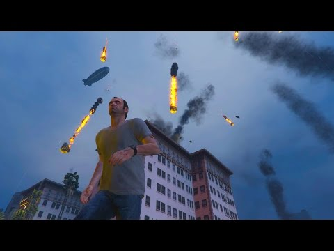 GTA 5 PC MODS - Meteor Shower Script Mod!