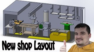 Shop layout in 3D for maximum use of space before moving anything.
