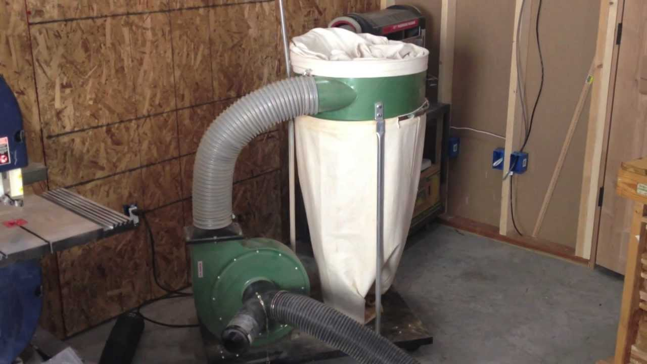 Harbor Freight Dust Collector review Good - YouTube