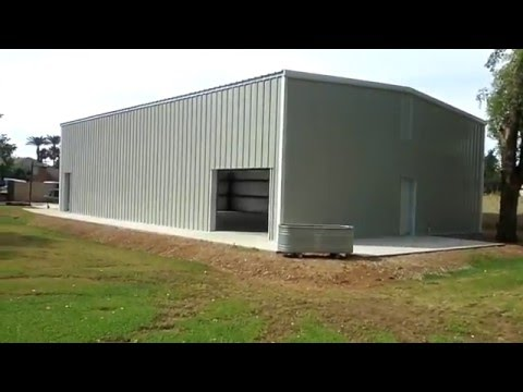 Steel Building with Mezzanine - YouTube