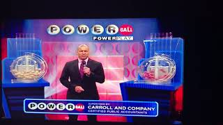 The 8/19/17 powerball drawing -