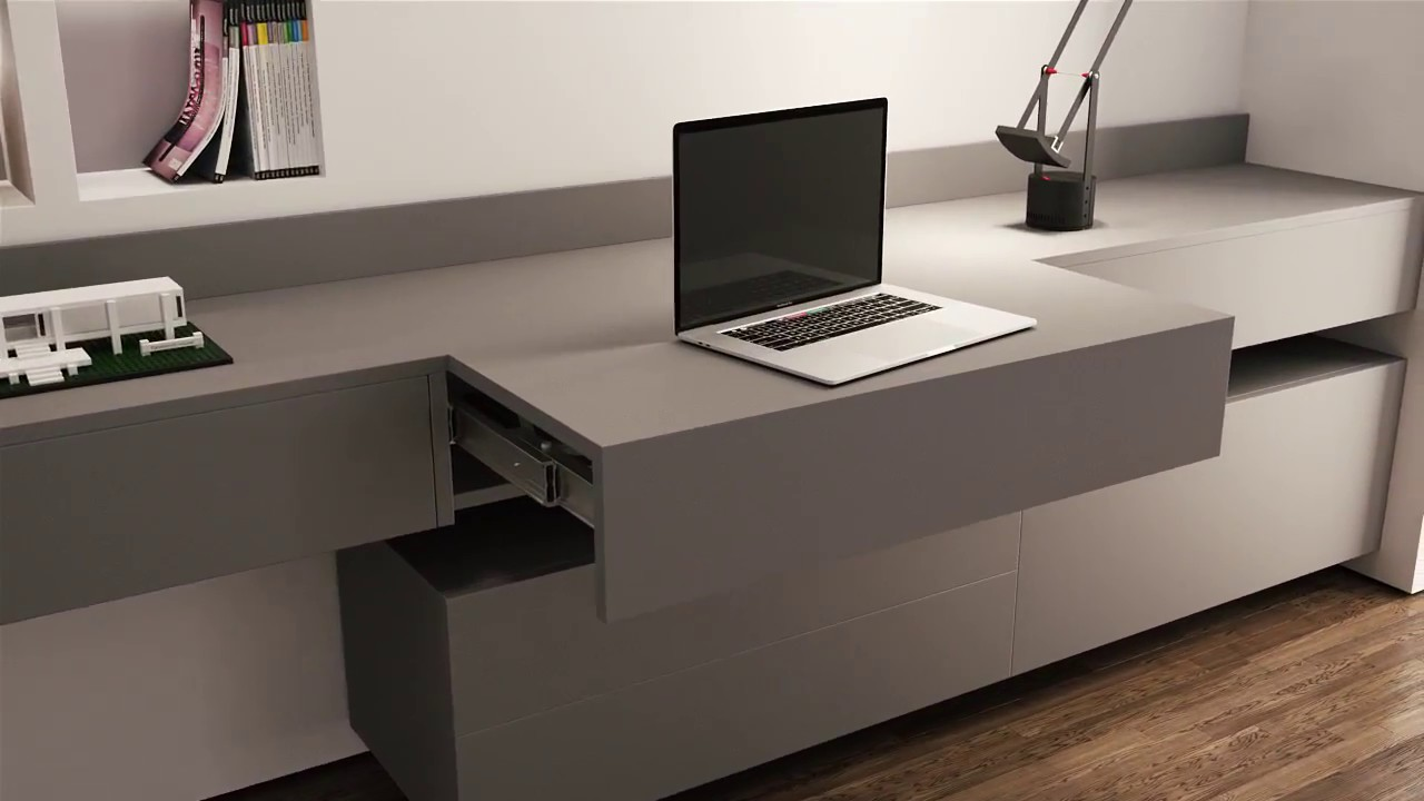 OPLA TOP 390mm Pull Out Worktop / Desk | BOX15