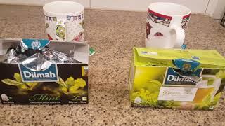 Review Dilmah Black Tea Mint VS Dilmah Green Tea Moroccan mint