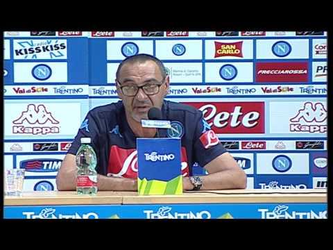 Conferenza di Maurizio Sarri, allenatore della SSC Napoli, a Dimaro